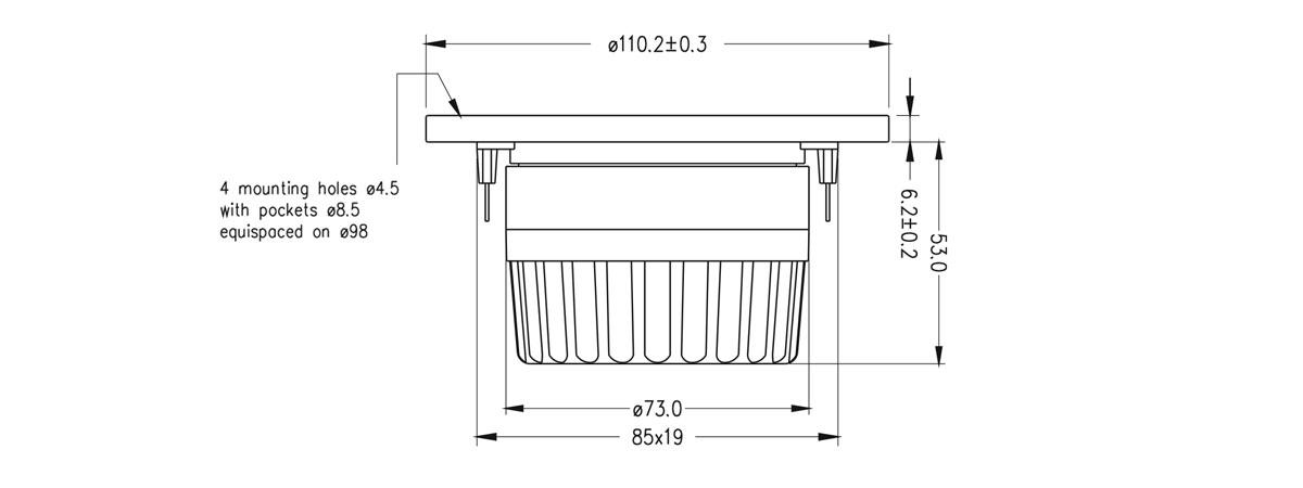 dimensioni T25C003