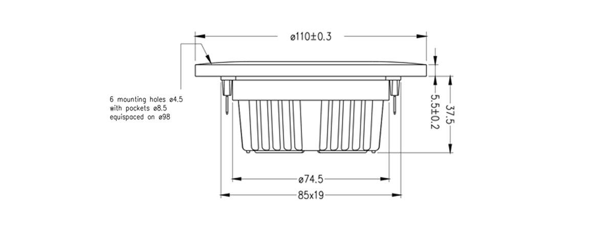 dimensioni T29CF001